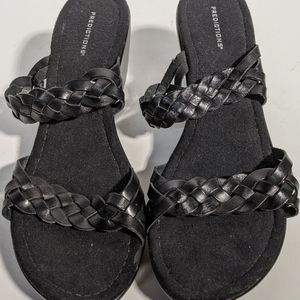 Prediction black sandals size 12